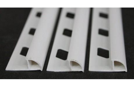 1/4 de rond pvc blanc h:8...