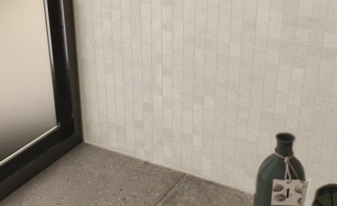 Série mosaico konkrete bianco de